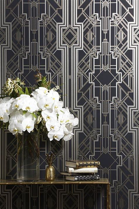 great gatsby themes about the past this wallpaper has a great gatsby art deco theme whilst
