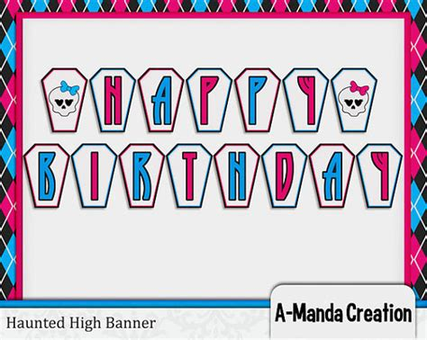 monster high printable birthday banner monster high birthday quotes quotesgram