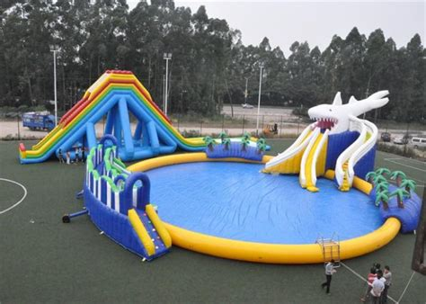 ultimate inflatable backyard water park entertainment blow up games ultimate inflatable water park
