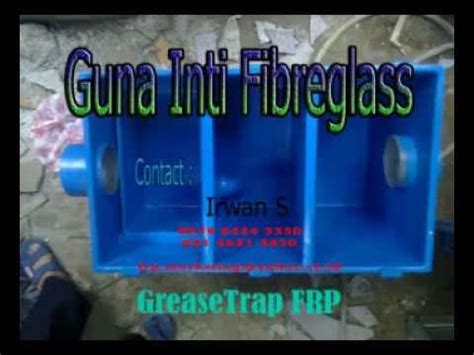 Jebakan Lemak Grease Trap Igt30 Greasetrap Frp Penjebak Lemak Grease Trap Harga