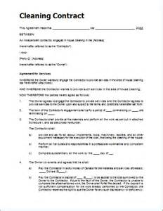 Cleaning Service Agreement Template by Sle Cleaning Contract Template For Ms Word Document Hub