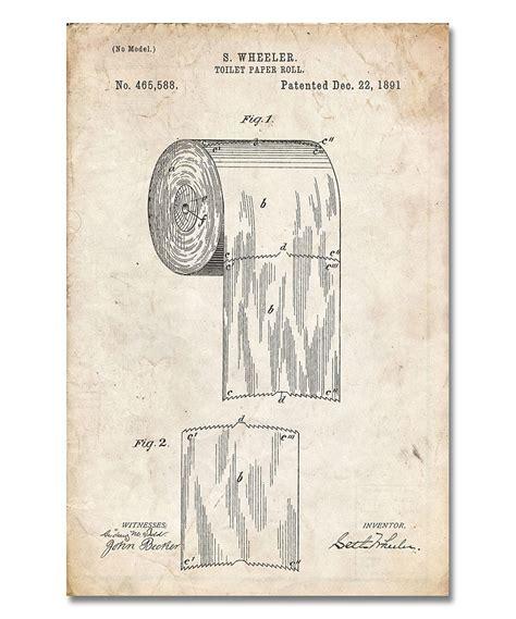 vintage bathroom printables vintage parchment toilet paper patent print by patent