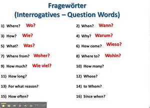 question words in german www germanforspalding org