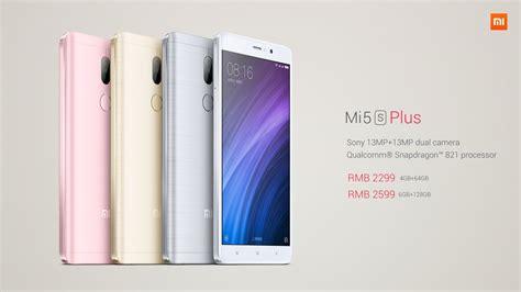 Xiaomi Mi 5s Plus 64gb Rosegold xiaomi s mi 5s plus is official with snapdragon 821 dual