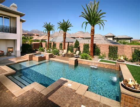 Desert Backyard Geometric Pools For Homes Hotels And Resorts Desert