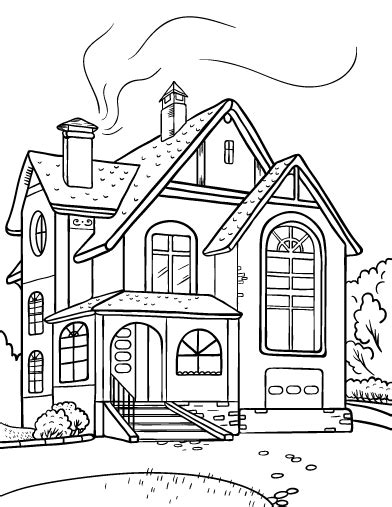 house coloring printable house coloring page free pdf download at http