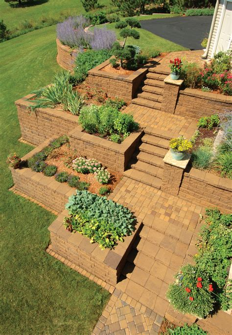 Startling Retaining Wall Blocks Decorating Ideas Images In