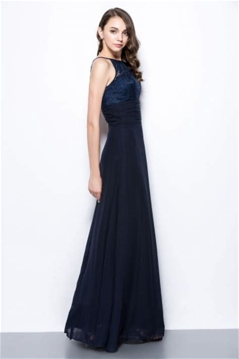 robe bleu marine pour t 233 moin mariage 224 haut dentelle col