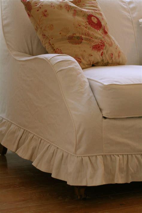 custom slipcovers  shelley white denim loveseat