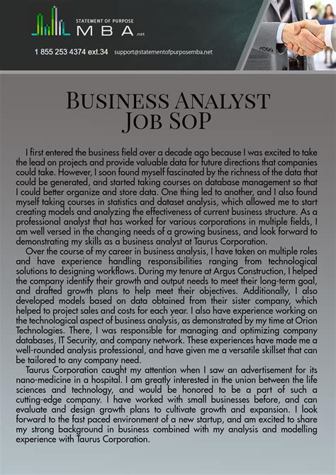 Business Analyst Mba Programs by Statement Of Purpose For Business Analyst Bag The Web