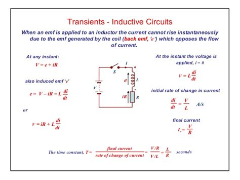 transients in an inductor elect principles 2 dc transients inductive