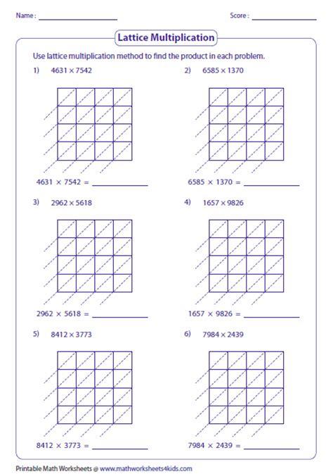 Similiar Lattice Multiplication Method Keywords