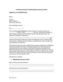 Business Letter Of Understanding Sample Business Purchase Letter Of Intent The Best Letter Sample