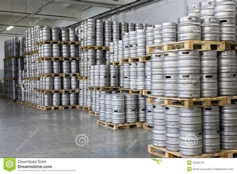 stock photo company pallets of beer kegs in stock brewery ochakovo editorial