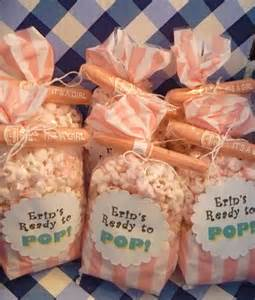 baby shower fabors salty sweet delicious ready to pop popcorn baby shower