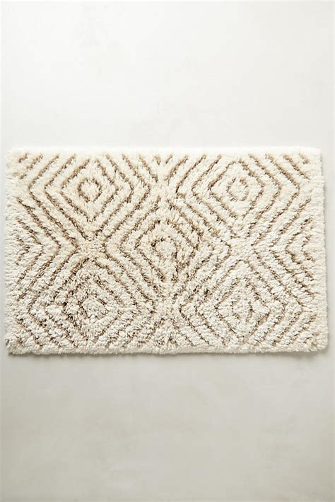 Anthropologie Bath Mat tufts bath mat anthropologie
