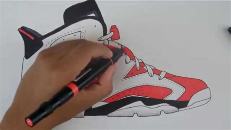 Drawing Jordans by Jordania 5 Pencil And In Color
