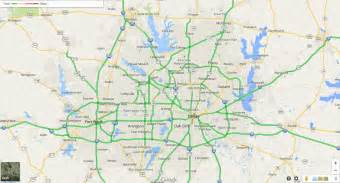 dallas traffic map winter weather vs dfw traffic