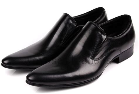 2015 new fashion black mens office shoes pointed toe