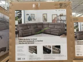 costco 1041145 fabric reclining sectional box costcochaser
