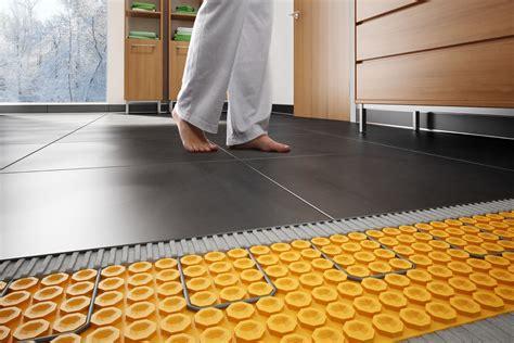 how to heat bathroom floor schluter 174 ditra heat floor warming schluter com