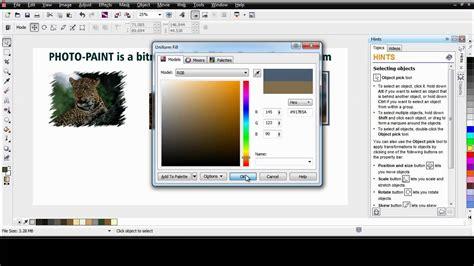 tutorial coreldraw photo paint x6 coreldraw graphics suite x6 photo paint basics youtube