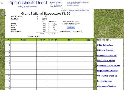 Free Sweepstake - free 2017 aintree grand national sweepstake spreadsheet kit