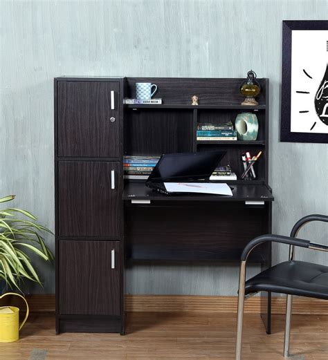buy used study table buy omura study table with cabinets in wenge finish by