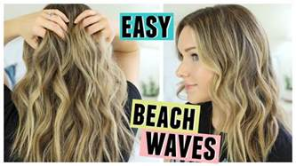 how to style hair that is in its awkward stage for men easy beach waves hair how i style my hair youtube