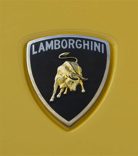 lamborghini badge lamborghini emblem 2 photograph by jill reger