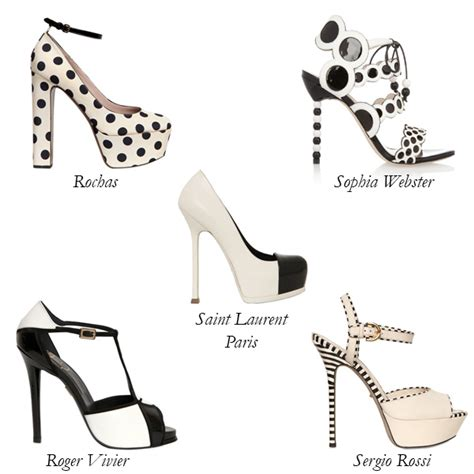 black and white shoes