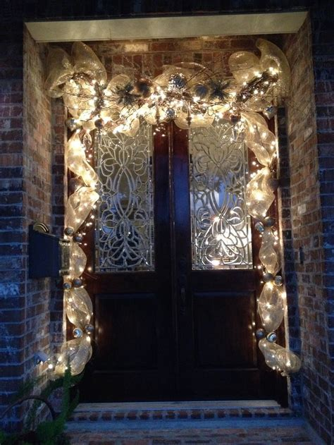 christmas door grapevine garland my work pinterest