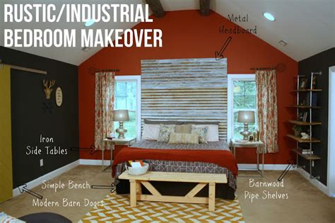 rustic industrial bedroom makeover knock it east