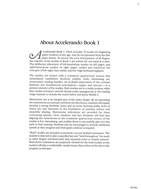 Accelerando Book 1   Schultz Music Publications