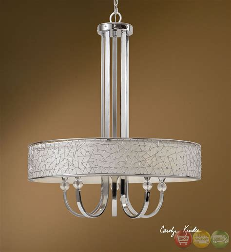 Contemporary Chandelier Shades Brandon Contemporary 5 Light Shade Chandelier 21233
