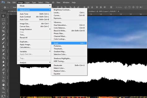 invert colors photoshop how to create a torn edge effect in adobe photoshop