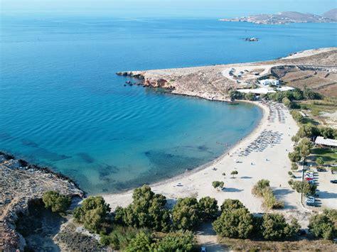 Colorful Beach Houses by Parikia Paros Island Greece Beach Pounda Amp Parasporos