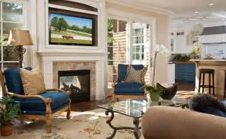 Tv And Fireplace In Living Room by How To Decorate And Organize The Space Around A Fireplace