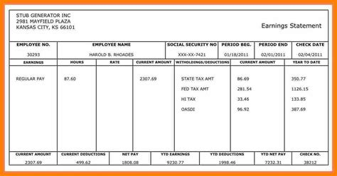 9 Truck Driver Payroll Template Pay Stub Format Truck Driver Payroll Template