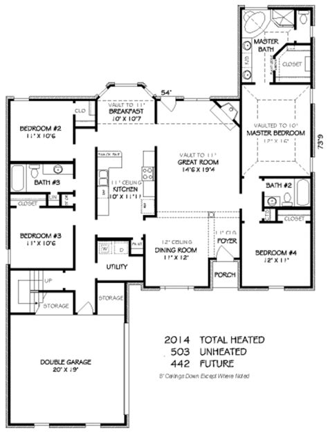 traditional plan 2 525 square feet 4 bedrooms 3 traditional style house plan 4 beds 3 00 baths 2014 sq
