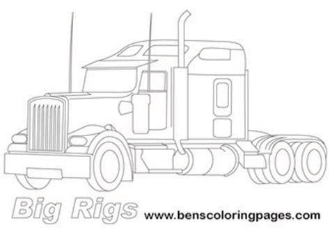big rigs truck coloring page