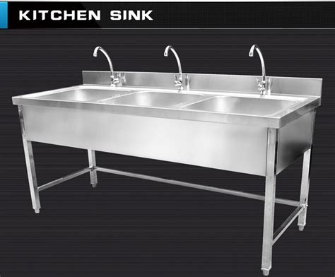 kitchen sink restaurant commercial hotel restaurant stainless steel kitchen sink cabinet with faucets buy stainless