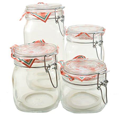 Canister 1 2l glass canning canister jars bormioli fido 4