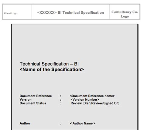 detailed technical design document template learn to create a sap bw technical specification