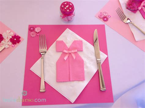 Ideas For Folding Paper Napkins - a pretty in pink baby shower vegan vegetarian cooking