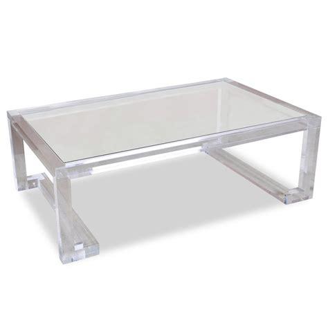 acrylic and glass coffee table regency modern glass acrylic coffee table