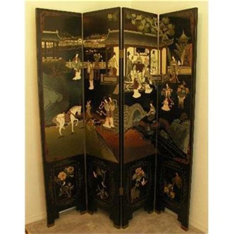 Asian Room Divider Asian Room Divider Screen 4 Panel Black 1790980