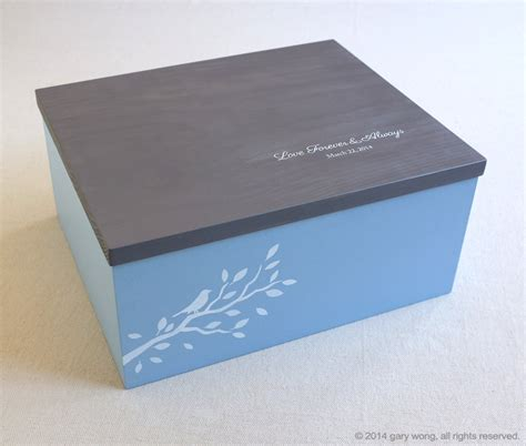 Handmade Wedding Keepsake Box - keepsake box personalized wooden box wedding by