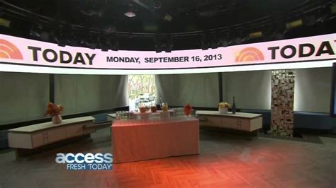 today show set today show new set 2013 sneak preview quot access