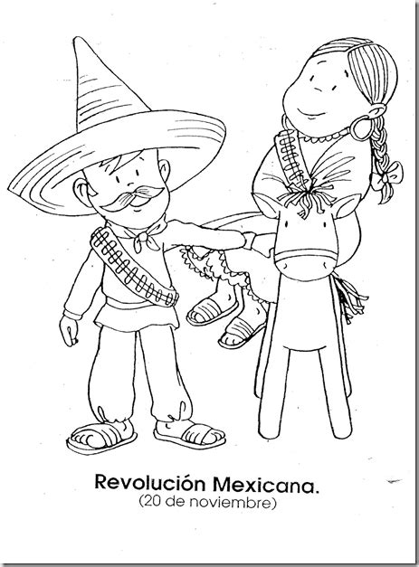 revolucion coloring pages mexican revolution november 20 coloring page coloring